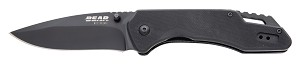 "71502 - BEAR 4 1/2"" BLACK G10 ASSISTED DROP POINT SIDELINER"