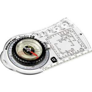 F-TRUARC10 - BRUNTON TruArc10 Baseplate Compass, Rare Earth Global Needle, Roamer Scales, Inch/MM Scale