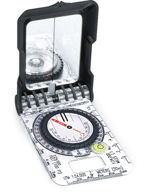 F-TRUARC15 - BRUNTON TruArc15 Mirror Compass, Rare Earth Global Needle, Clinometer, Bubble Level, Inch Scale