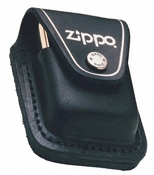 LPLBK - ZIPPO Lighter Pouch W/Loop, Black